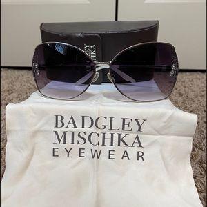 Badgley Mischka Crystal Embellished Sunglasses